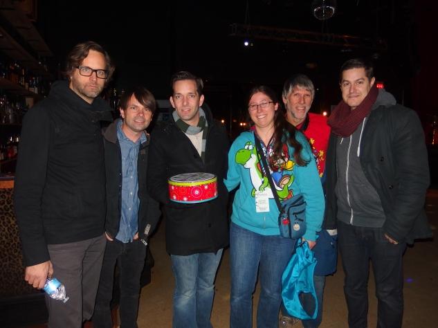 Matt, Charlie, Stephen, me, Dad, Dan.  And cookies.